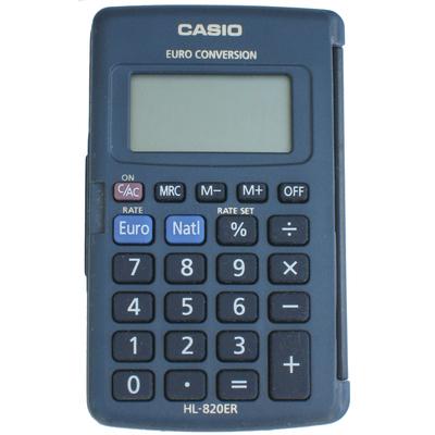 CASIO CALCOL. TASCABILE HL 820VA 8 cifre, Big display - Radice quadrata Struttura in metallo