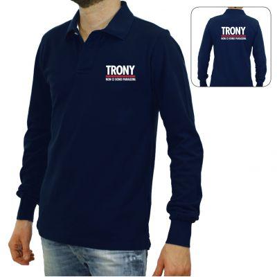 TRONY POLO BLU UOMO  M.LUNGA TAG.XL