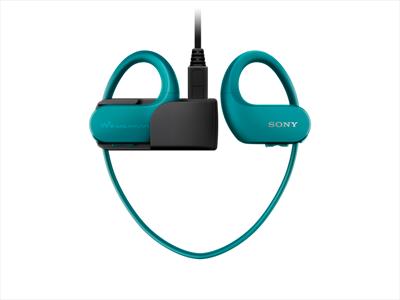 SONY LETT.MP3 NWW-S413L 4GB IMPER. Indossabile IMPERMEABILE fino a 8metri (IPx8) , azzurro