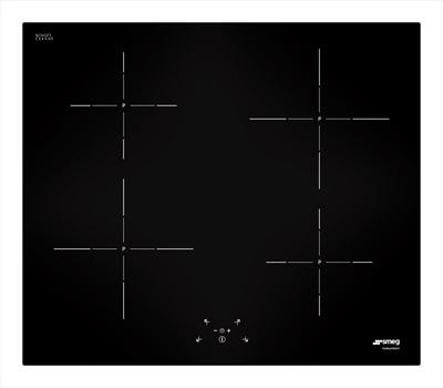 SMEG PIANO COTTURA SI5642D INDUZIONE 4 zone induzione,potenza max 3 kw.9 livelli di potenza,