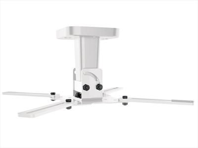 MELICONI SUPPORTO PRO 100 BIANCO X VIDEO suporto da soffitto per videoproiettori,  H 123cm , inclinab