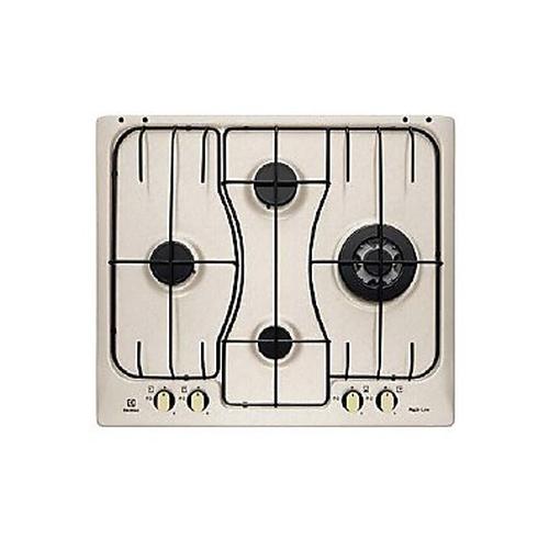 ELECTROLUX PIANO COTTURA RGG6243 LON comandi frontali.Rustico Soft  - 4 fuochi gas -color sabbia