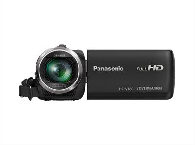 PANAS TELEC. HC-V180EG-K SDCAM NERA FULL-HD, Z. ottico 50x, GRAND. 28mm