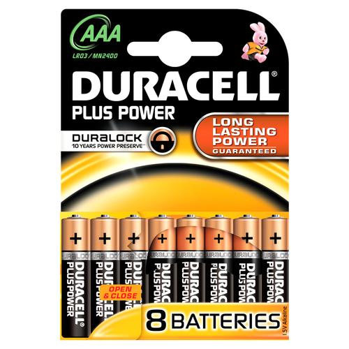DURACELL M/STILO MN 2400 AAA PLUS 8pz Serie Plus Power blister da 8pz