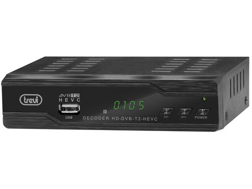 TREVI MINI RICEVIT. DTT  HE-3388 TT  T2 HD DVBT / T2 / HEVC codec H.265, USB rec, HDMI,