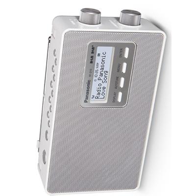 PANAS RADIO RF-D10-EG-W PORT.DAB+ memoria 10 canali, schermo lcd, DAB, DAB+,bianca