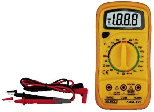 GBC MULTIMETRO DIGITALE KDM-120 MULTIM DIG 3,5 DIGIT 10A