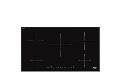 SMEG PIANO COTTURA SI5952B INDUZIONE 90c 90cm,5 zone induzione,potenza max 3 kw.9 livelli di potenza,
