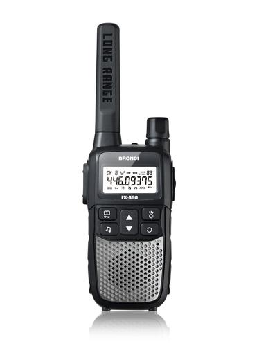 BRONDI COPPIA RICETRAS.FX-490 TWIN PMR 446 - portata 12KM, batt. ricaricabili incluse, torcia