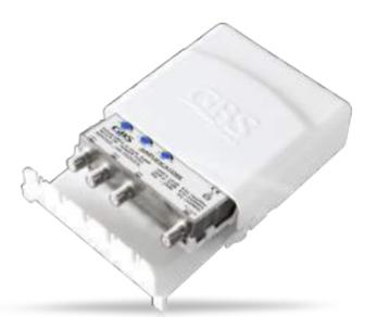 GBS AMPLIFICATORE NSR4/VU2 -LTE NSR 4 transistor - 3 ing. regol. - attacco F - filtro LTE