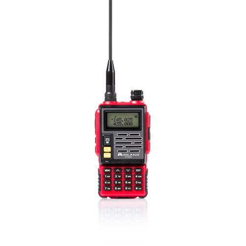 MIDLAND RICETRASM. CT-690 BIBANDA RED Potenza 5W VHF/UHF, color display,  ROSSO