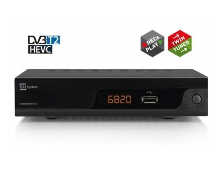 TELESYSTEM RIC.DIG.TERR.TS6820 ZAPPER DVB-T / T2  H.265/HEVC , DOPPIO TUNER, LCN, USB rec&play