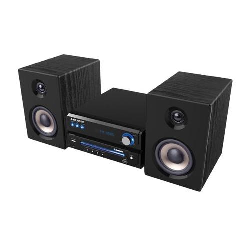 NEW MAJESTIC MICRO AH-2348 MP3,USB, NERO Bluetooth, CD/MP3, RADIO FM, USB, 50W casse in legno