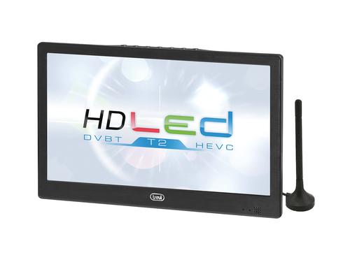 "TREVI LCD LTV 2010 HE 10\"" LED NERO DVB-T2 HEVC,USB Player, tripla alimentazione, batteria litio"