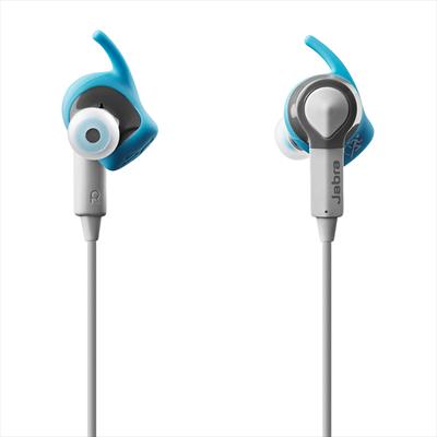 JABRA AURICOLARE SPORT COACH BLUE  Auricolari wireless per lo sport, cancel. passiva del rumore