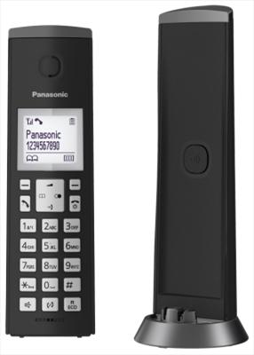 """PANAS TEL.CORDLESS KX-TGK210JTB BLACK DECT GAP, display  1.5\"""" vivavoce, rubrica 50 numeri, ID chia"""