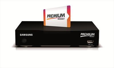 PREMIUM SMART DECODER COMBO Decoder Samsung DTT+Sat,  con tessera visione contenuti SKY