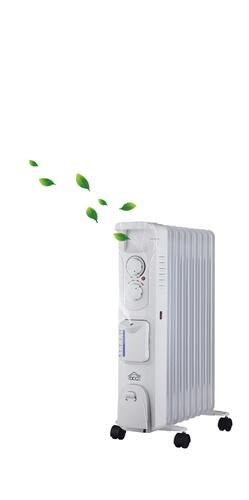 DCG RADIAT. RAU3809 CON UMIDIFI 9 elementi, con umidificatore, termostato regolabile, 2000W