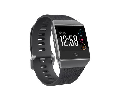 FITBIT IONIC NERO/GRIGIO GRAFITE SMARTWA Fitness Smartwatch con cinturini intercambiabili