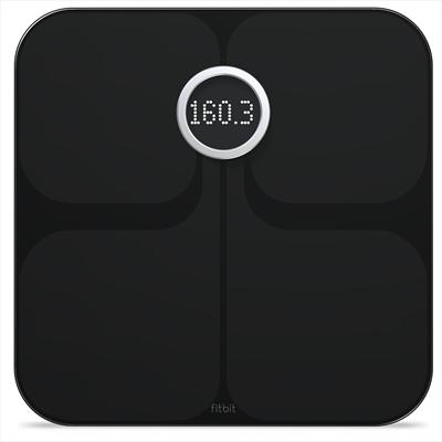 FITBIT ARIA 2 BLACK BILANCIA WIRELESS Bilancia Wi-Fi che pesa e misura la percentuale di grasso N