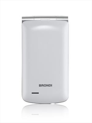 BRONDI CELLULARE MAGNUM 3 BIANCO APERTURA FLIP-DOPPIO DISPLAY-DUAL SIM-FOTO-BIANCO