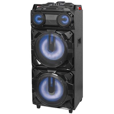 TREVI SISTEMA AUDIO XF 3800PRO PORTATILE amplificato 300W, Bluetooth, 2 ing. mic. USB, batt. ricarica