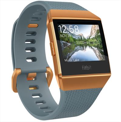 FITBIT IONIC ARDESIA/TERRA BRUCIATA SMAR Fitness Smartwatch con cinturini intercambiabili