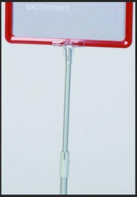 (1) ASTA IN ALLUMINIO TUBI 58-101cm Tubi estensibile da 58 cm a 101 cm