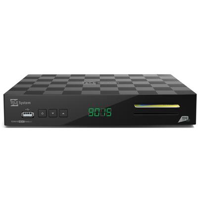 TELESYSTEM RIC.TIVU-SAT TS9015HD +CARD Ric.Dig.Satellitare Dual Slot, card Tivu-Sat,HD, HEVC, PvR