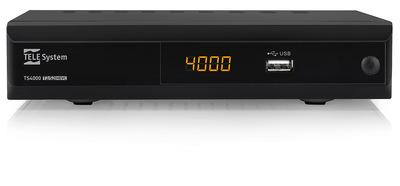 TELESYSTEM RIC.DIG. TS4000 COMBO T2/S2 Decoder Digitale Terrestre e Satellitare HD/PVR-Mediaplayer