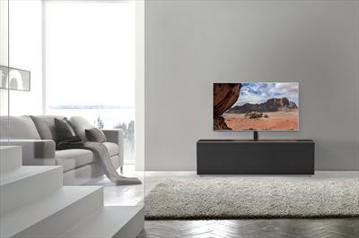 MELICONI MY STAND 12040H GLASS BLACK Mobile tv nero con mezza anta in vetro (L x P) 120 x 40 cm