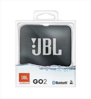 JBL DIFFUSORE GO 2 WIRELESS BLACK Sistema audio portatile con connettività wireless Bluetooth