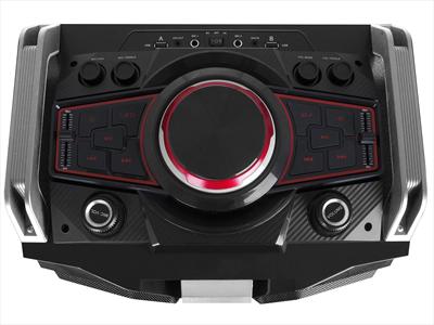 TREVI SISTEMA AUDIO XF 4000DJ PORTATILE amplificato 300W, Bluetooth, Mic. Wireless, batt. ricaric.