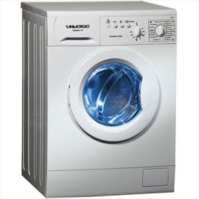 SANGIORGIO LAVAT. S5510C 7kg(A+++)1000GG ITALY.h-p-l 85x57x59,5,meccanica ibrida,18 program.+2 tasti