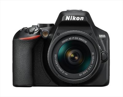 """NIKON FOTO.DIG.D3500+18-55VR KIT 24,2Mp CMOS DX 24.2Mp, LCD 3\"""", filmati Full HD, SD 16GB, bluetooth"""