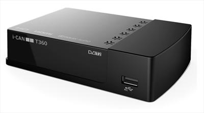 ADB RICEV.DIG.TERR.I-CAN T360 HD ZAPPER Zapper T2 HEVC    USB  Rec&Play