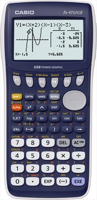 CASIO CALCOL. GRAFICA FX-9750GII equazioni lineari, quadratiche, cubiche, Funzioni statistich