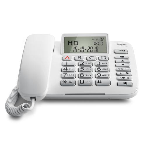 GIGASET TELEF. FILO DL580 ITA WHITE