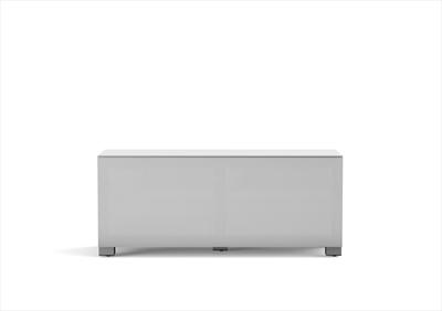 MELICONI MY STAND 12040F TEXTILE WHITE Mobile tv bianco con anta in tessuto IR Friendly, 120 x 40 c