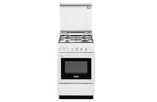 DE LONGHI CUCINA SEW554 N ED BIANCA 50X5 made in italy,cop.vetro,valvola sicurezza,forno+grill elettr