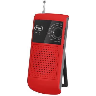TREVI RADIO RA 713 AM/FM ROSSA  PICCOLA E LEGGERA,ALTOPARLANTE O CUFFIA,ALIM.2 AAA