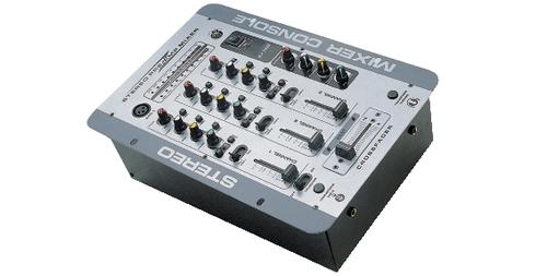 "GBC DJ MIXER 3 CANALI 61.5062.25  3 ingressi \""Line/Phono\"" selezionabili, controllo toni, 2 mi"