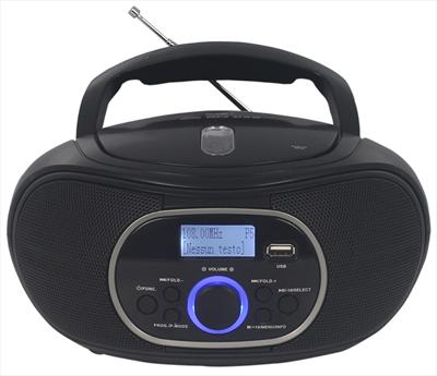 NEW MAJESTIC RADIOR. AH-260 DAB BLACK LETTORE CD AUDIO/MP3, RADIO RDS FM, DAB/DAB+