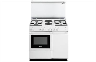 DE LONGHI CUCINA SEW8542 N ED BIANCA 86x made in italy.portab.,v.s., 4 gas+2 piastre el., forno elett
