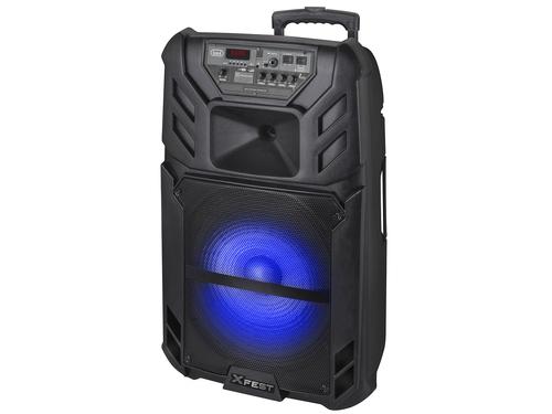 TREVI SISTEMA AUDIO XF 1500KB PORTATILE amplificato 120W, Bluetooth, ing. mic. USB, batt. ricarica
