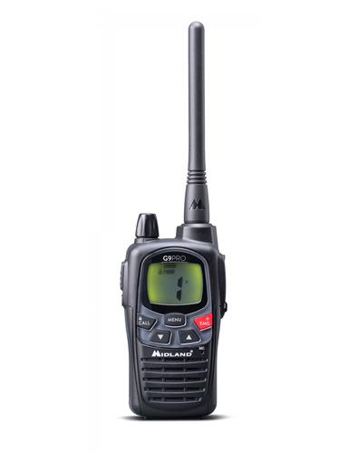 MIDLAND RICETRASM. G9 PRO NERO doppio PTT per alta/bassa potenza, ant. 12cm, Waterproof
