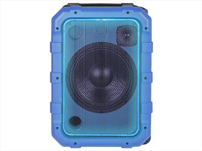 TREVI SISTEMA AUDIO XF 1300 BEACH BLU amplificato 80W, Bluetooth, 2 ing Mic, ipx4, batt. ricarica