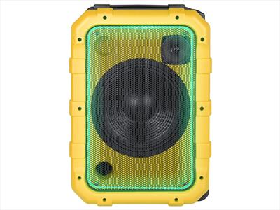 TREVI SISTEMA AUDIO XF 1300 BEACH YELLOW amplificato 80W, Bluetooth, 2 ing Mic, ipx4, batt. ricarica