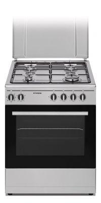 HYUNDAI CUCINA FCHN-60EX4 INOX 60X60 Cucina a GAS, forno elettrico,4 funzioni con grill,coperhio