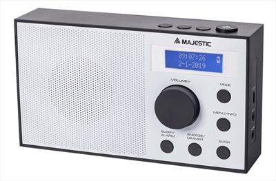 NEW MAJESTIC RADIO RT-193 DAB VINTAGE RADIO DAB/DAB+, sveglia doppio allarme